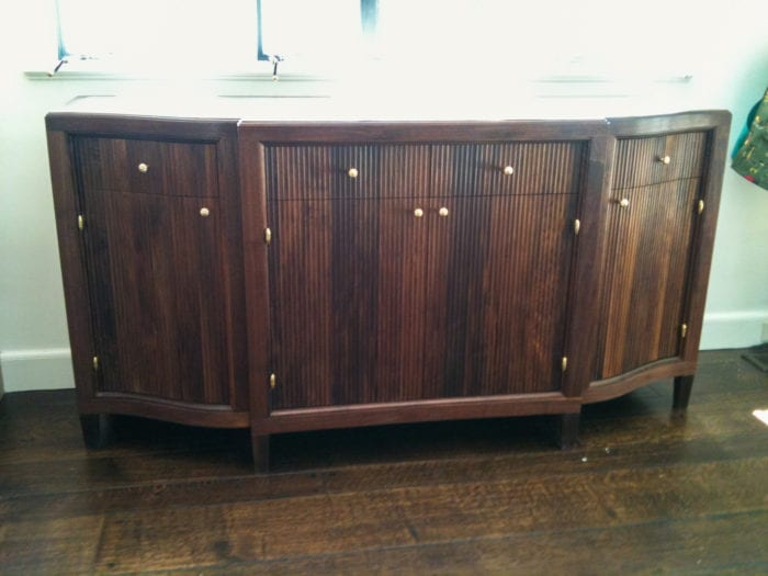 Fluted Walnut Dresser