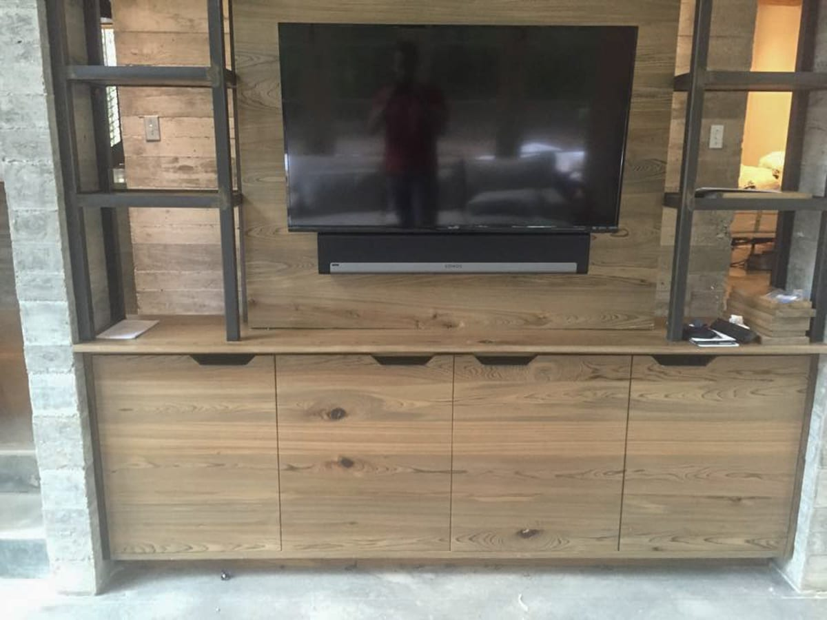 Oak Tv Stand with Cabinets
