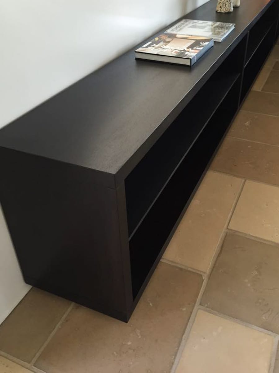Long Matte Black Shelves