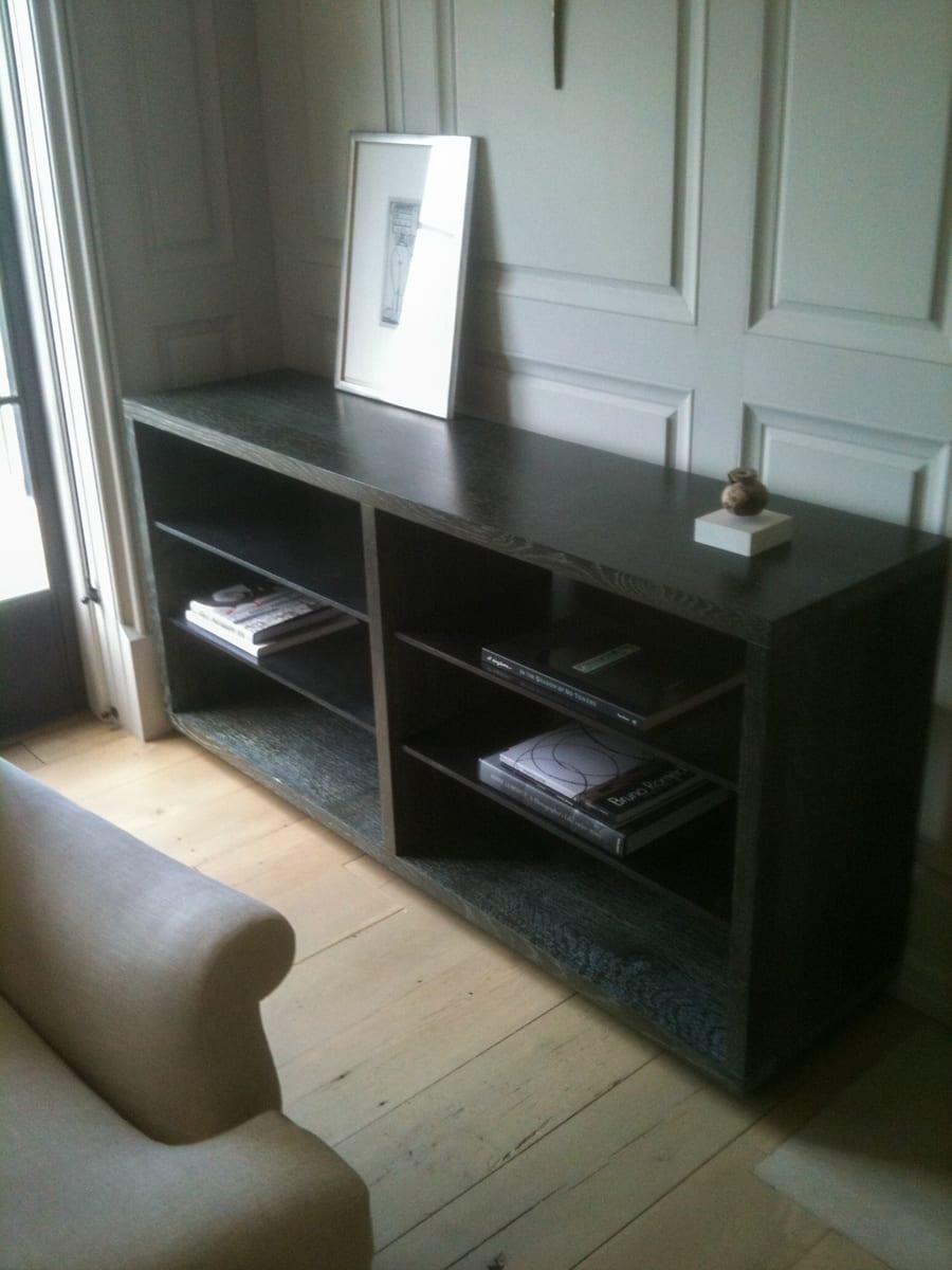 Black Wooden 3-tier Bookcase