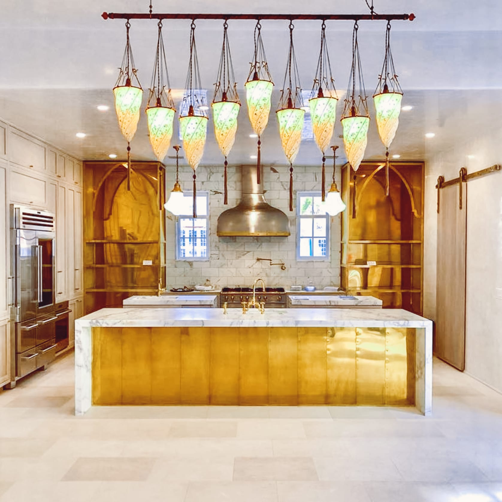 Oak and Brass Kitchen full view