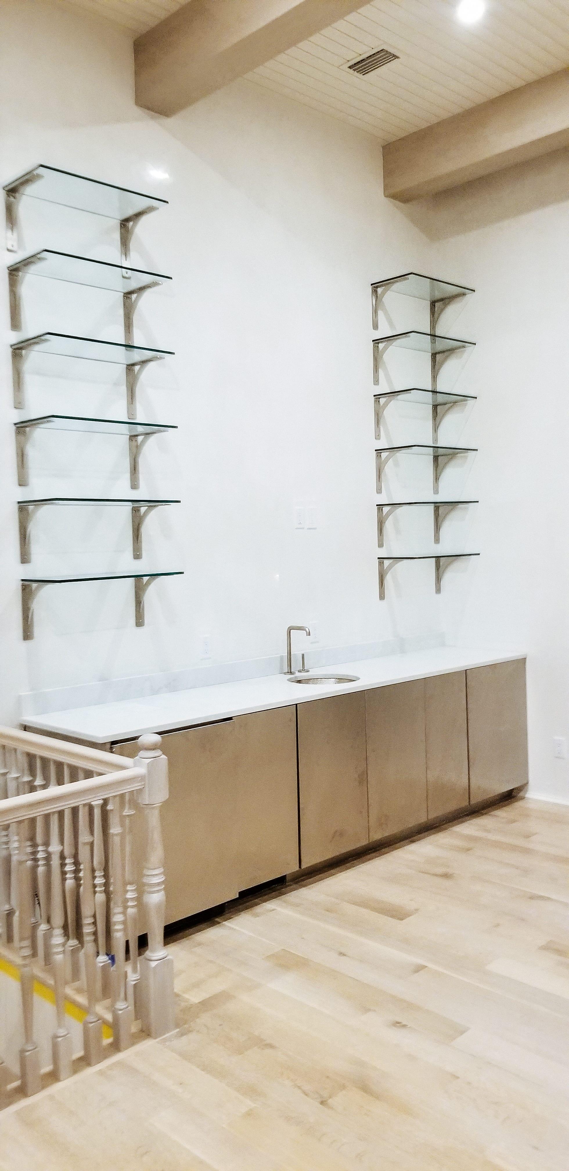 Glass Wall Shelves