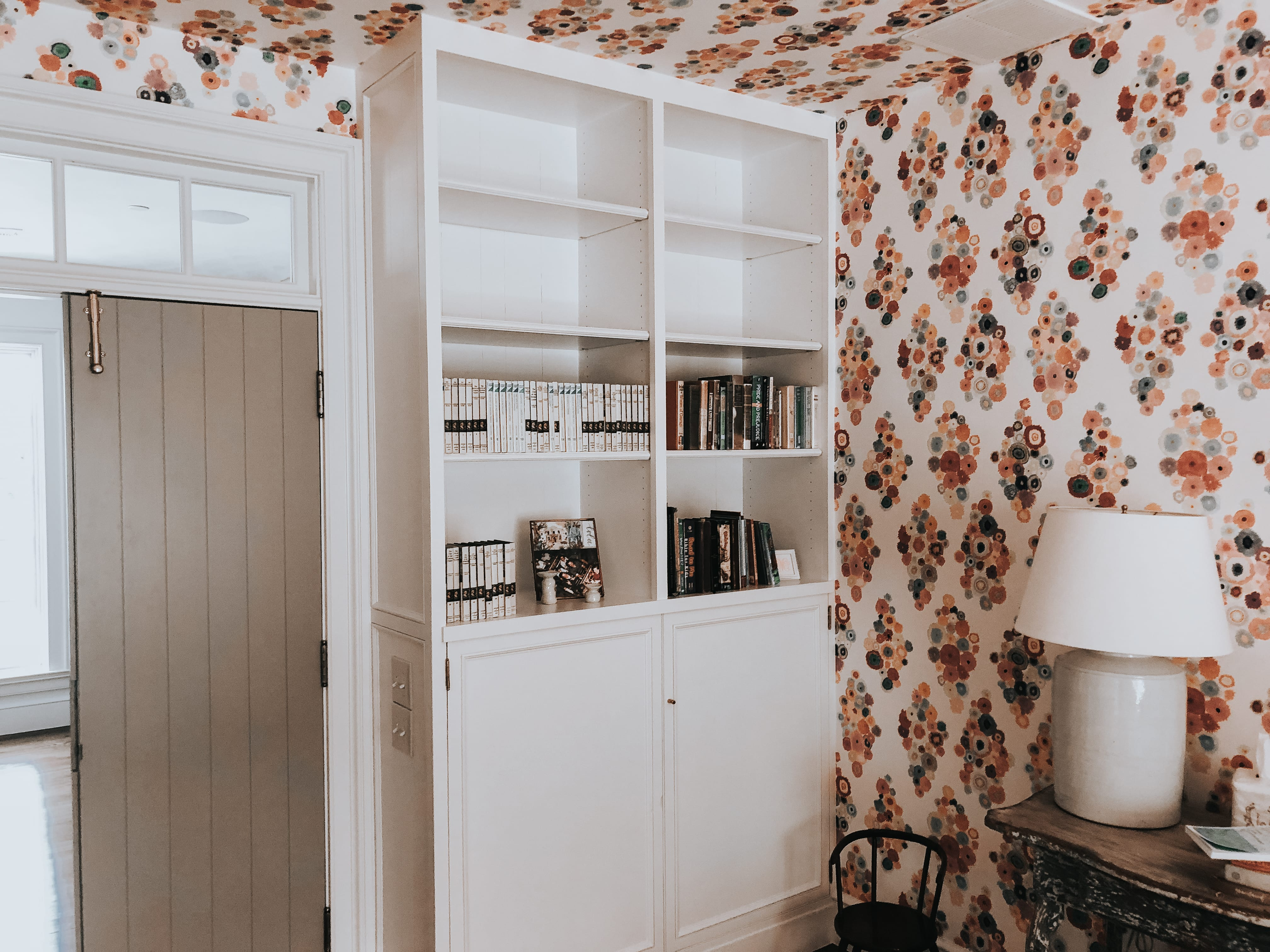 White Floor to Ceiling Bookcase