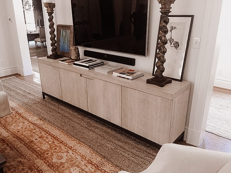 Rift White Oak and Steel Credenza