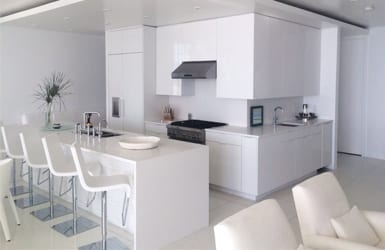 Sleek White Kitchen with White Cabinets