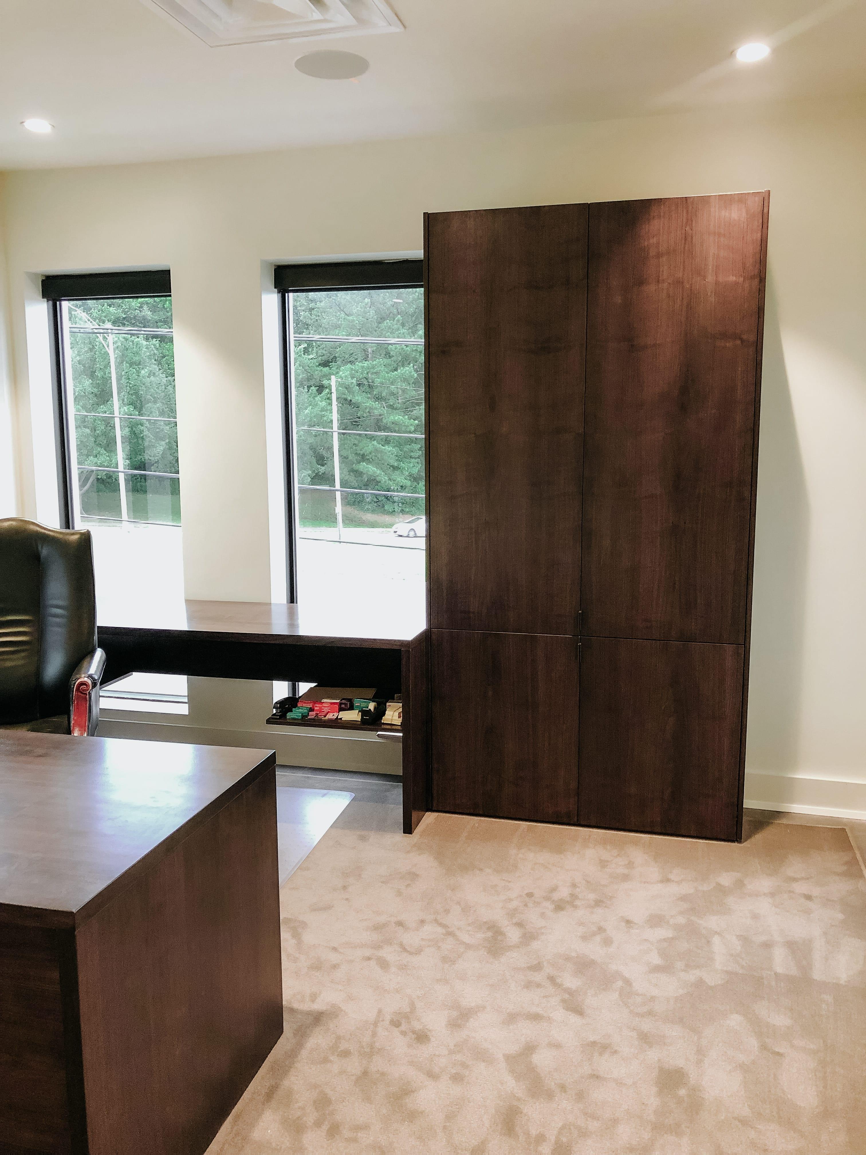 Walnut Cabinet in Office