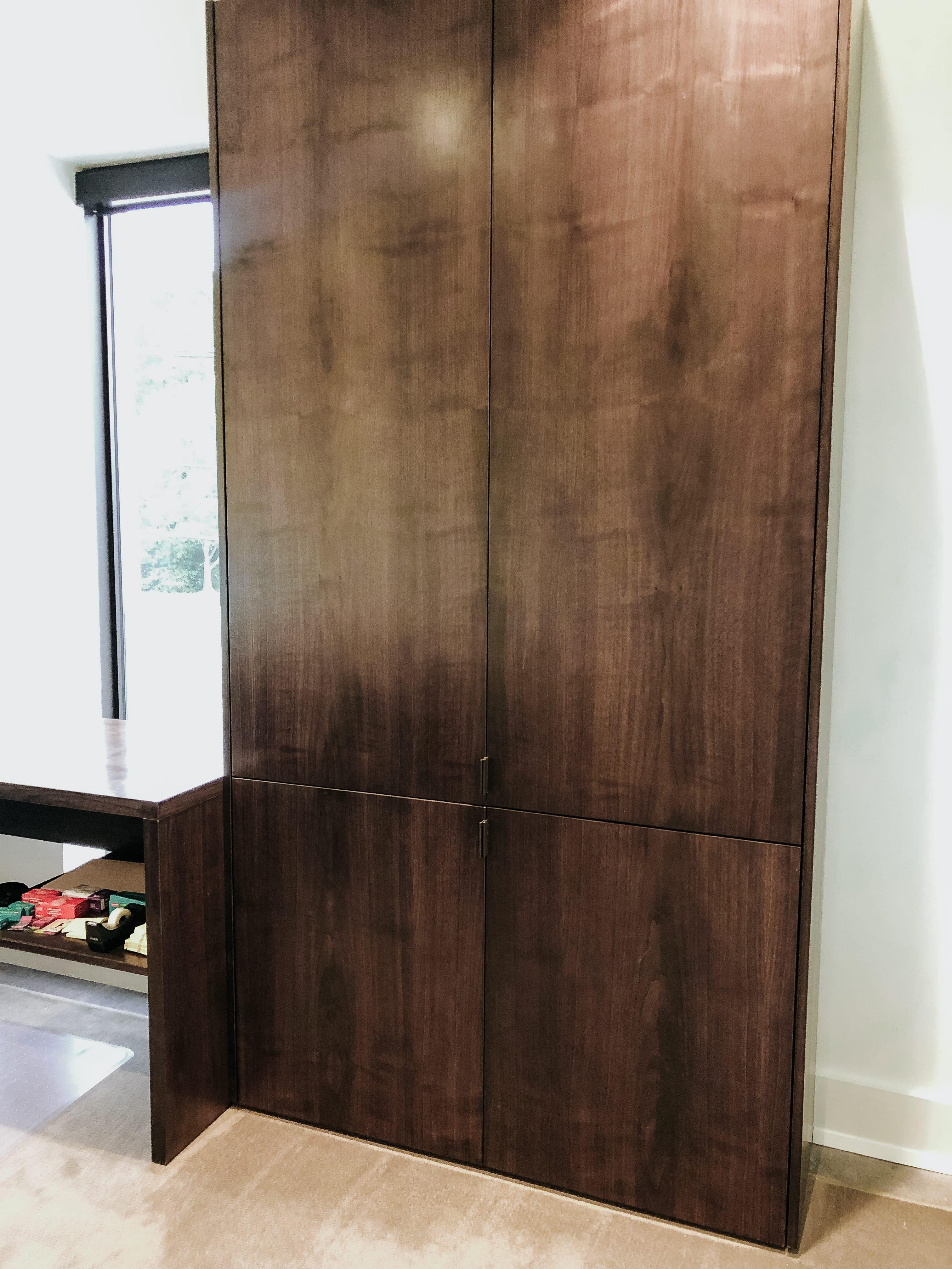 Walnut Kitchen Cabinets Work in Progress