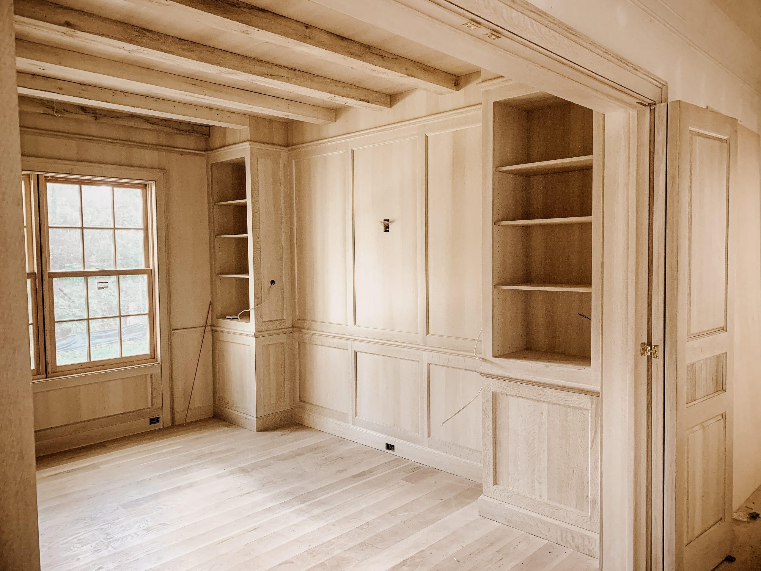 Quartersawn White Oak Office Work in Progress