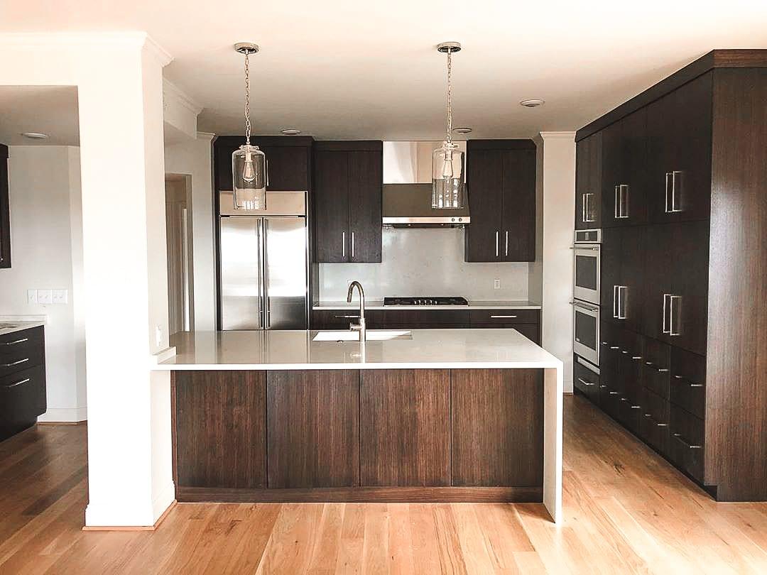 Modern Kitchen Cabinetry - Dark Walnut