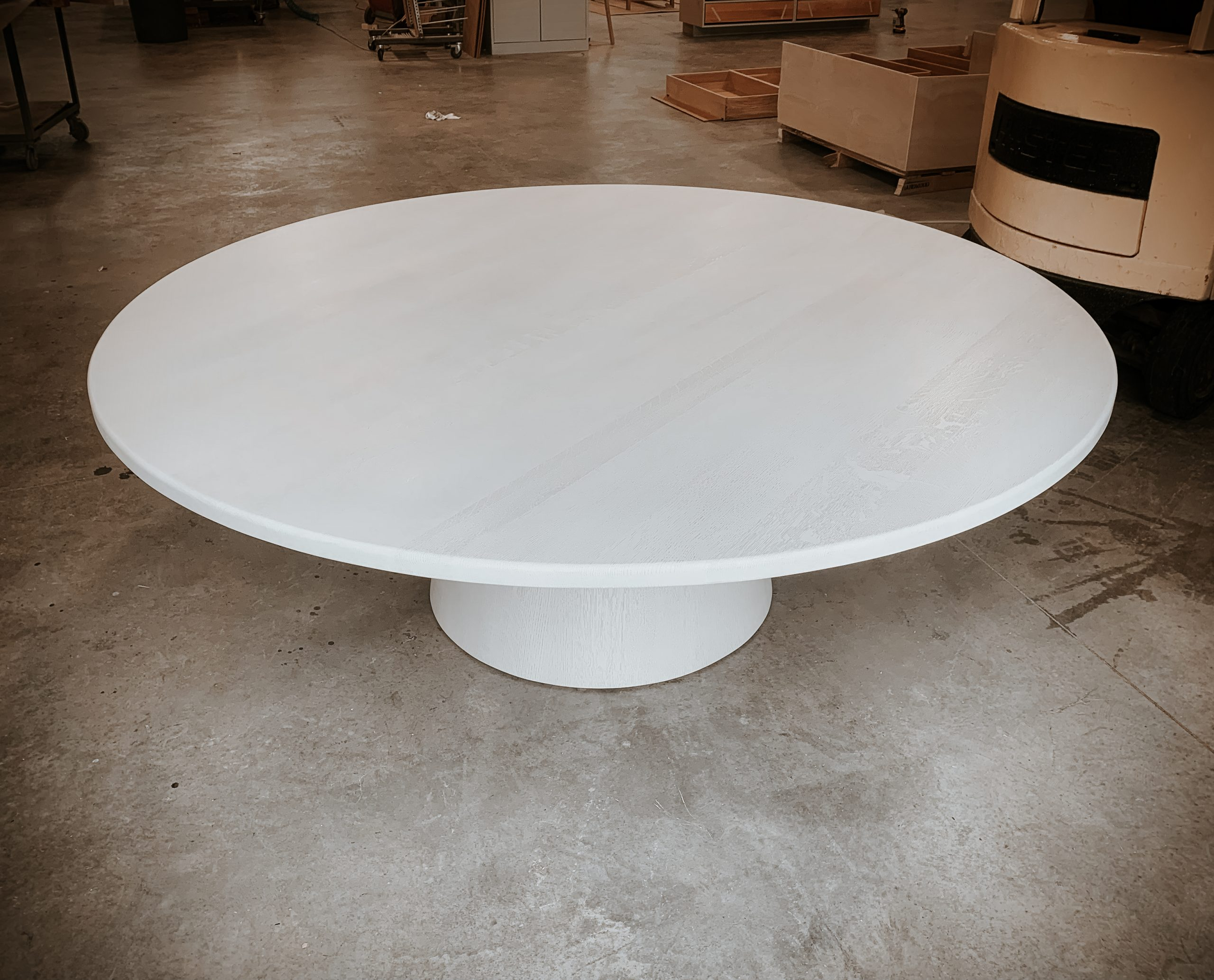 Top of Ghost White Dining Table