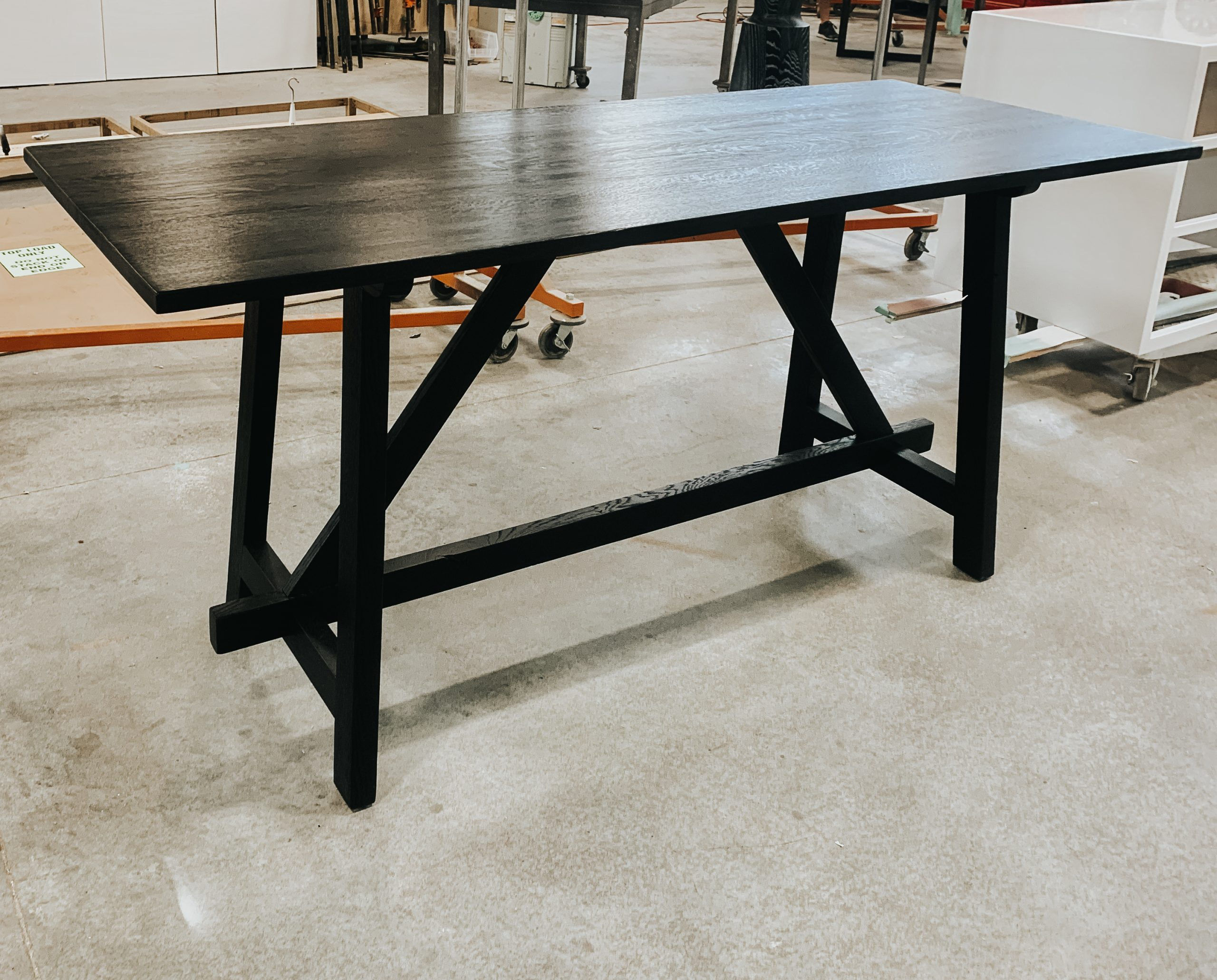 Traditional walnut entry table