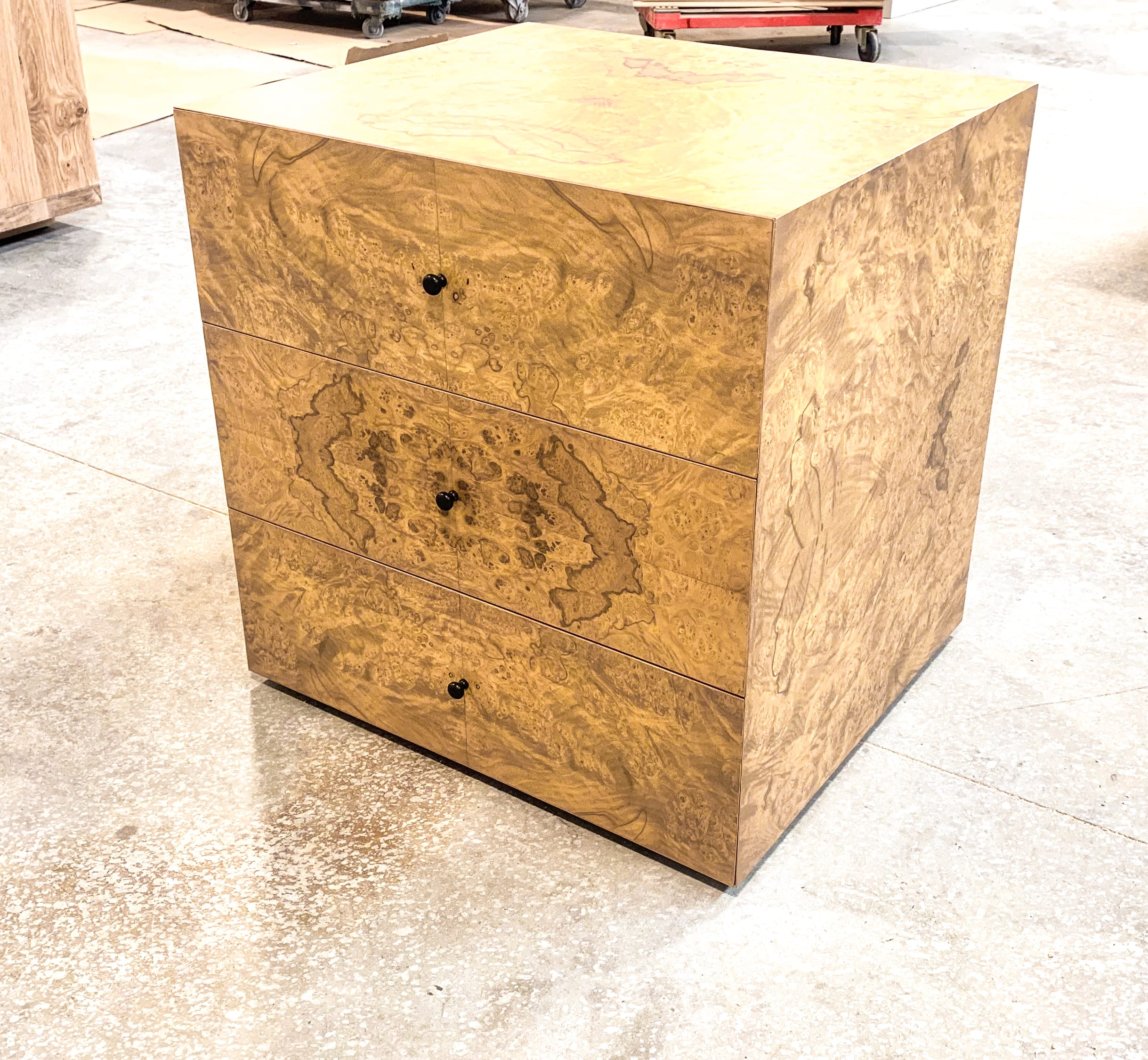 Olive ash burl side tables