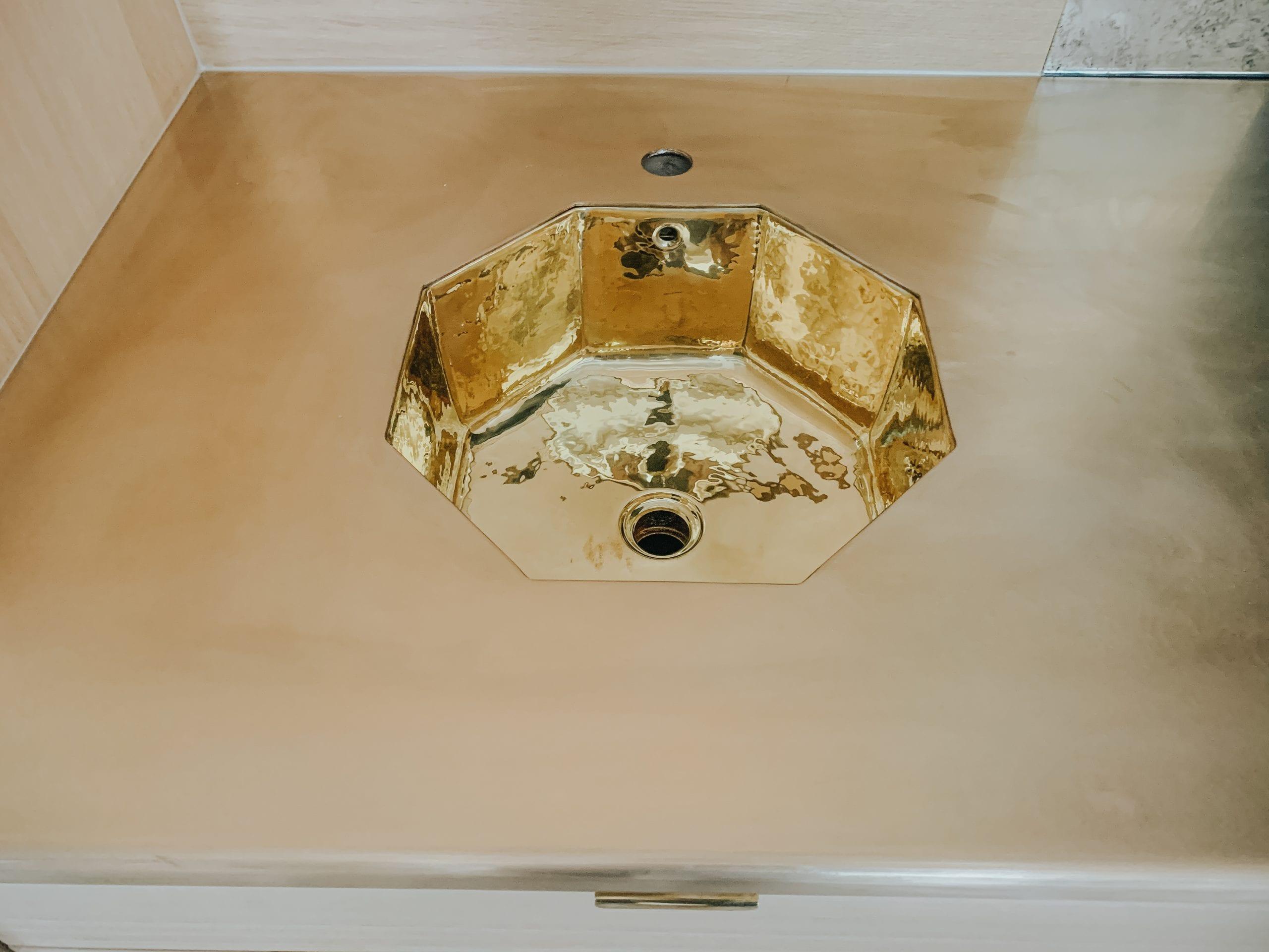 Bronze Countertop and Sink