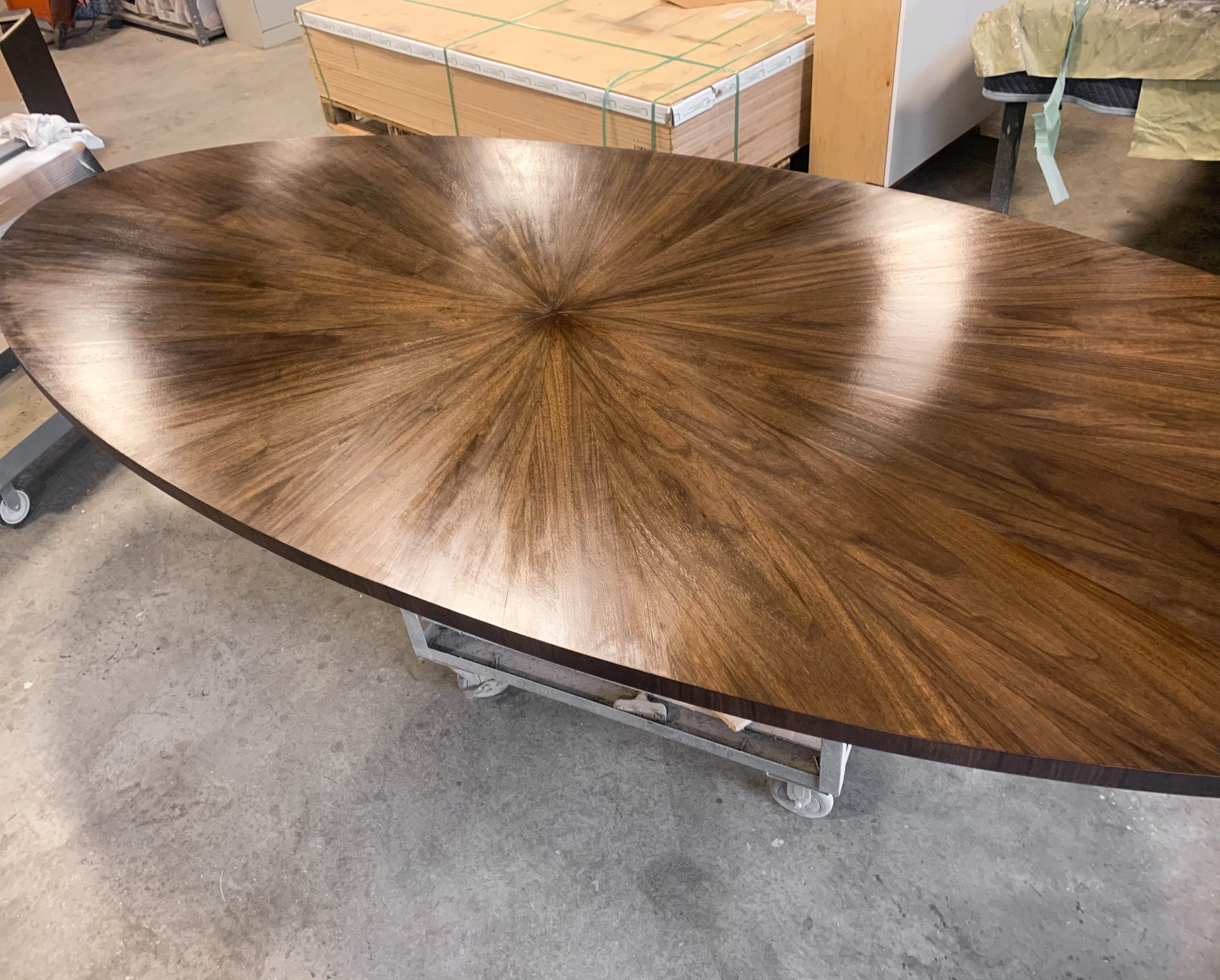 Oval Radiate Table Top