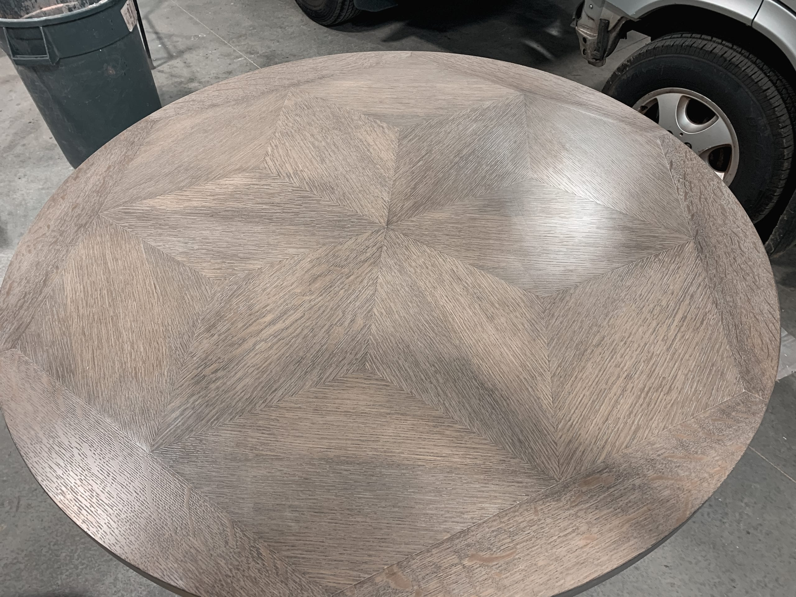 Beautiful 6 Point Star White Oak Table Top