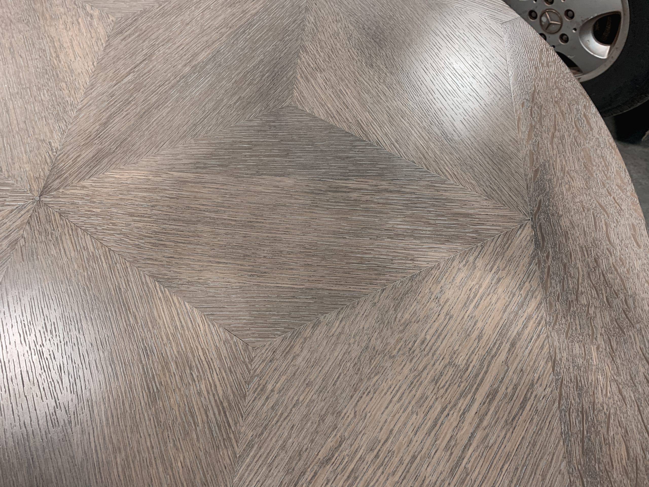 Wood Grain Details on 6 Point Star Table Top