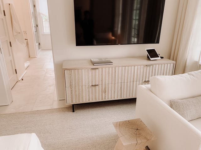 Fluted Entertainment Console