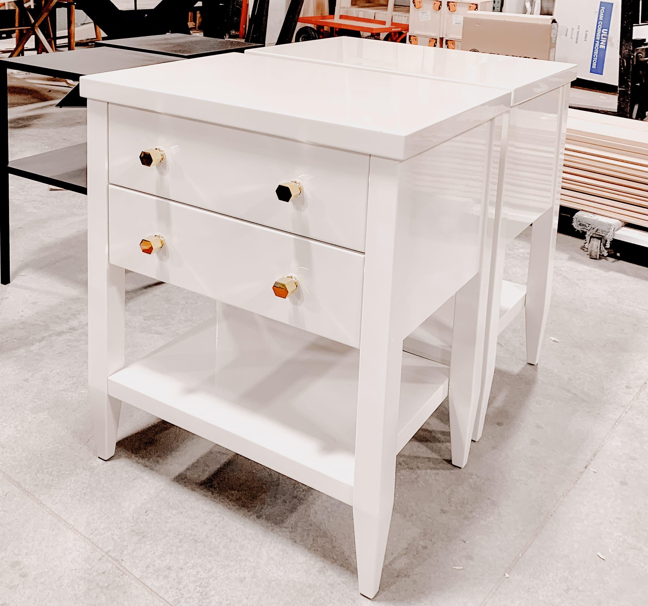 Glossy White Nightstand