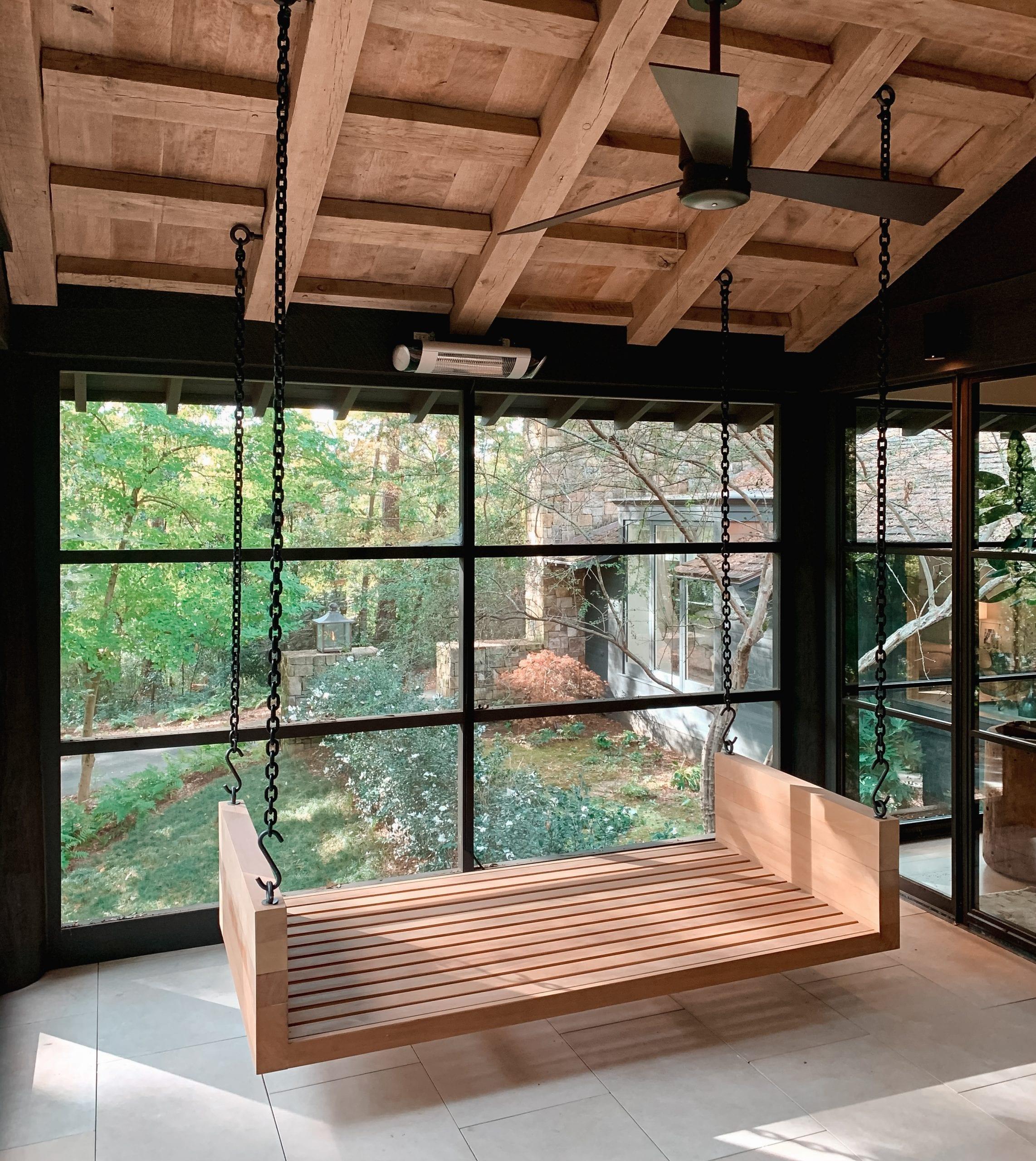 White Oak Large Porch Swing