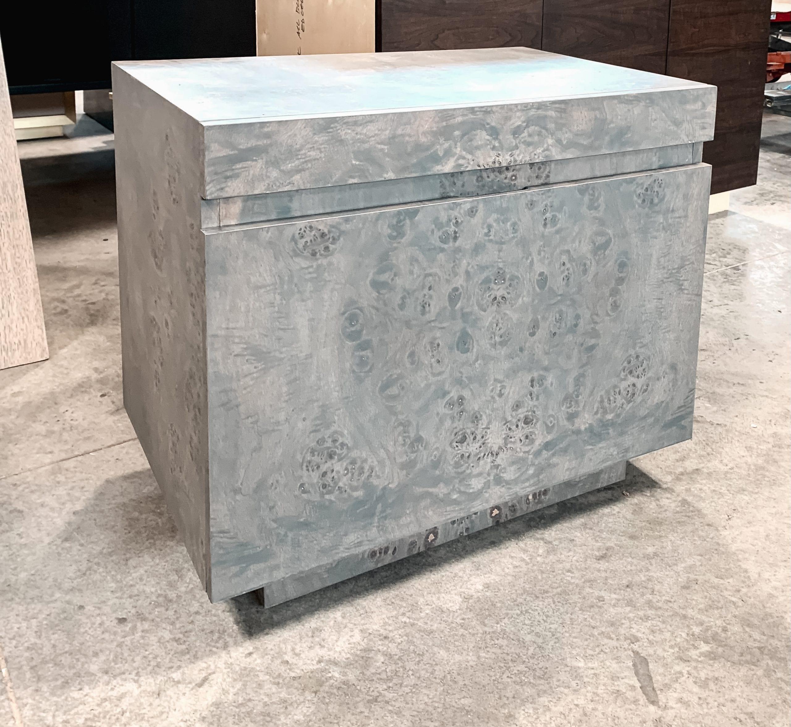 gray ash Burl side table