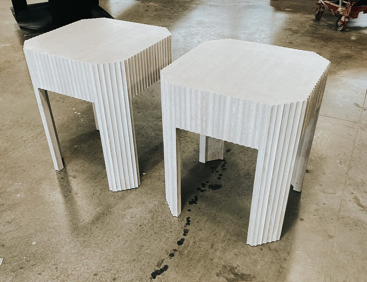 Fluted Side Tables