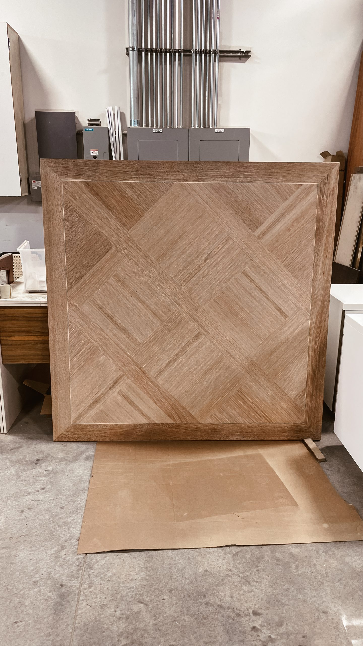Patterned Wood Dining Table