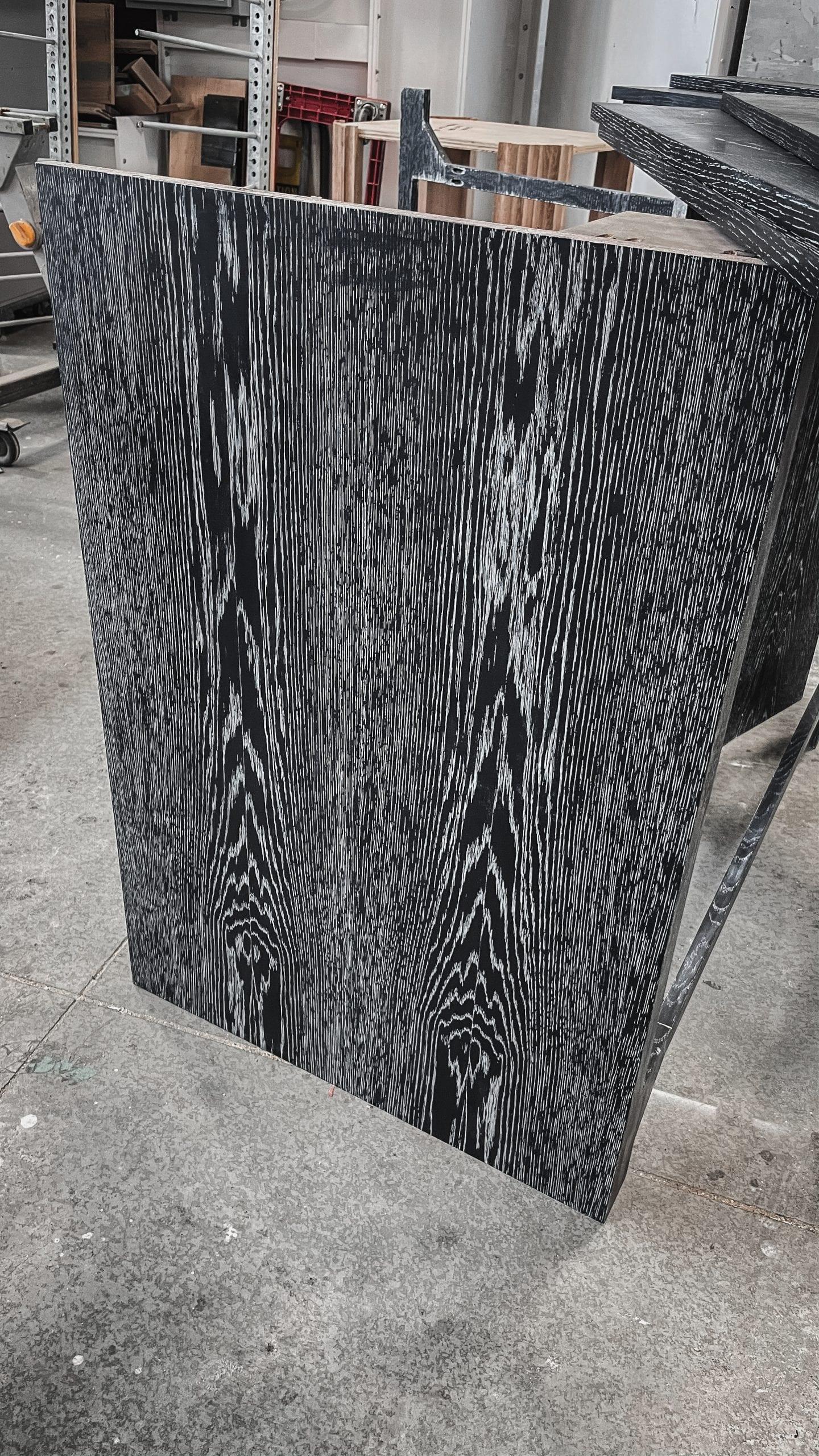 Black Wood Table Detail